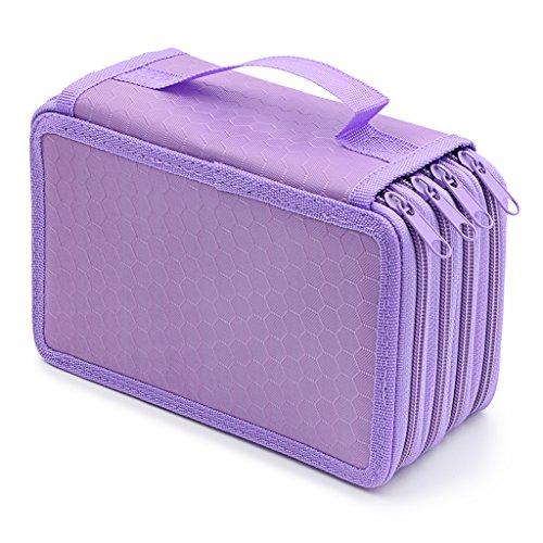 Hipiwe Astuccio Multi-Scomparto grande capacità contenere 72matite violet