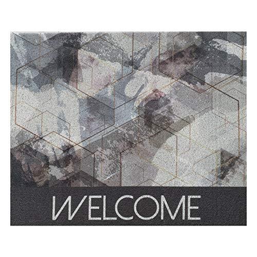 WZHIJUN Felpudo Interior Lazo de Seda Alfombra Antideslizante Entrada Alfombra, se Puede Cortar 45 × 75cm, 11 Tamaños, Personalizable Logo (Color : A, Size : 120×160CM)