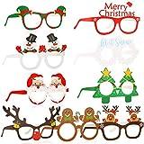 HOWAF 27 Piezas Marco de Gafas de Navidad Gafas photocall navideña Gafas Divertidas, Papá Noel árbol de Navidad Gafas de Disfraces Accesorio de Fiesta decoración Navidad para niños y Adultos