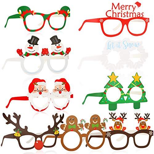 HOWAF 27 Piezas Marco de Gafas de Navidad Gafas photocall navideña Gafas...