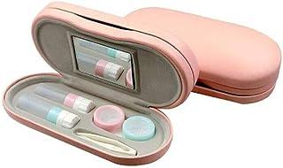 メガネケース、コンタクトレンズケース、手作り美容メガネコンパニオンボックス、丈夫な抗圧力クリエイティブ両面近視メガネケース 最高の贈り物