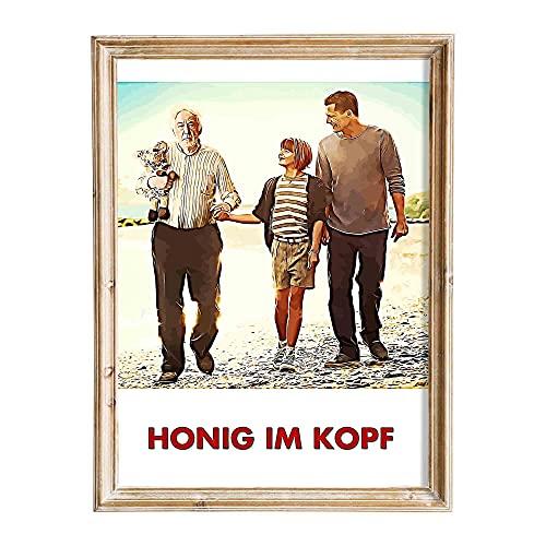 FANART369 - Poster di Honig im Kopf, formato A3, stampa artistica da parete, 29,7 x 42 cm, senza bordi