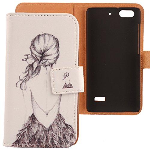 Lankashi PU Flip Leder Tasche Hülle Hülle Cover Schutz Handy Etui Skin Für Huawei G Play Mini (Honor 4C 5