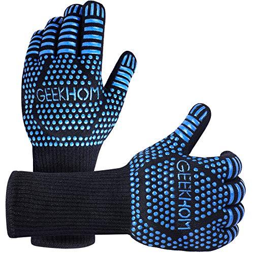 GEEKHOM Grilling Gloves,1472℉ Heat Resistant BBQ...