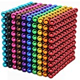 1000 PCS 5mm 10 Colores Bolas Funning New Multicolord Cube Grande Bloques de construcción Escultura Educativa Juego Fun Office Toy Intelligence Development Strel Relief Imaginación Regalo