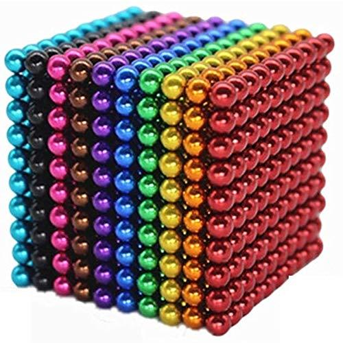 1000 PCS 5mm 10 Colores Bolas Funning New Multicolord Cube Grande Bloques de construcción Escultura Educativa Juego Fun Office Toy Intelligence Development Strel Relief Imaginación Regalo