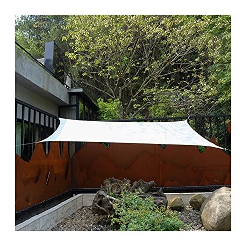 GuoWei Toldo Vela De Sombra Rectangular, Toldo De Protección Solar De Poliéster para Jardín Al Aire Libre, Carpas Resistente A Los Rayos UV, 17 Tamaño (Color : White, Size : 2x3m)