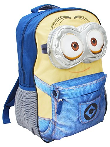 Despicable Me 16' Backpack Minions Goggle Cargo Pocket School Bag