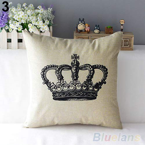 JujubeZAO Pillow Cover/Case, Retro Home Decorative Linen Cotton Blended...