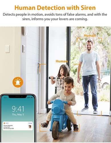 Imou Cámara IP WiFi Interior 1080P con Detección de Humano, Cámara de Vigilancia WiFi Interior con Modo de Privacidad, Compatbile con 2.4GHz WiFi, Detección de Sonidos Extraños, Work with Alexa