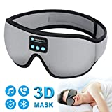 Sleep Headphones Bluetooth Eye Mask, 20-28 inches Adjustable FREGENBO Music 3D Sleep Mask 2020 Upgraded, Wireless Sleeping Headphones for Side Sleepers, HandsFree for Meditation Insomnia Airplane