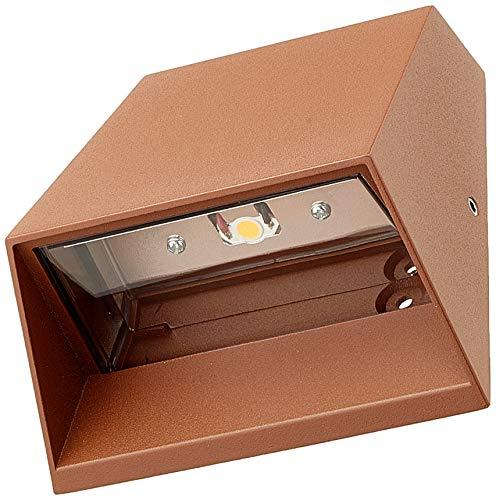 Wandlamp wandlamp koud wit 6W roestkleurige buitenspot wandlamp wandlamp