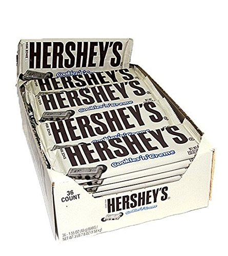 HERSHEY'S COOKIES 'N' CREME BAR - 43G AMERICAN CANDY BAR (pack of 36(