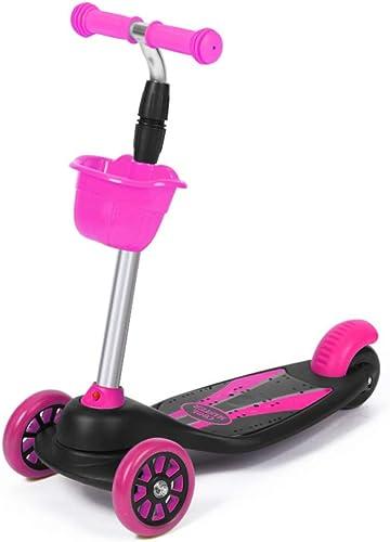 F.RUI KinderScooter YA03 Kinderroller h nverstellbarer 3-PU Blinkenden LED Rollen Faltbar Leichtgewicht Kinder ab 3-10 Jahren für Jungen und mädchen