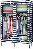 Armari Portátil de Tela, Cloth Vestidor Barra Organizador del almacenaje del gabinete Estante Dormitorio for la Ropa Zapatos Sombreros Liuyu.