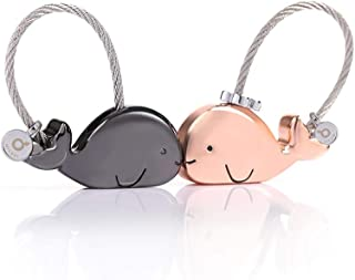 MILESI Sweet Kissing One Pair of Whale Couples Keychain Valentine's Love Gift