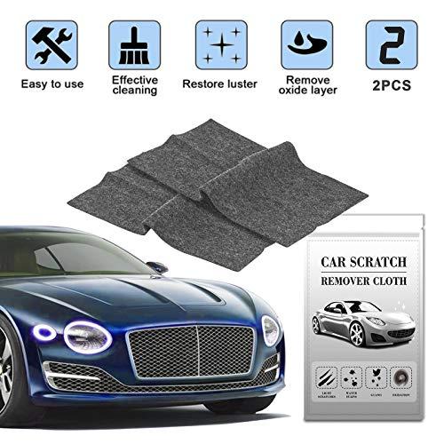 Auto-Kratzer-Reparatur,Nano Magic Tuch für Auto Kratzer Entfernen(2 Stück),Mehrzweck Car Scratch Remover für Reparatur von leichten Kratzfarben,Lackpflege, Detailing, Autoreinigung,Nanotechnologie