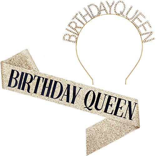 Gold Glitter Birthday Sash Birthday