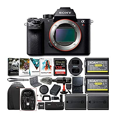 Sony Alpha a7RII Mirrorless Digital Camera (Body Only) w/ 128GB SD Card & Photo/SLR Sling Backpack Bundle from Sony