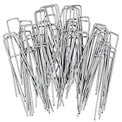PROFESSIONAL SPECIFICATION EXTRA-DURABLE PREMIUM GALVANISED U-SHAPED PEGS – G&B high-performance U-shape garden securing pegs are the professional's first choice for securing weed membrane, landscape fabric, netting, chicken wire, ground sheets, exte...