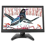 WHOLEV 13.3' LCD HDMI Monitor 1080 FHD Color Screen with Remote Control HDMI VGA BNC USB Input 178° Wide Angle Built-in Speaker for Gaming PC Display