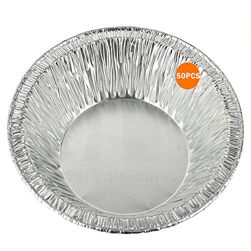 3-Inch Disposable Aluminum Foil Mini Tart/Pie Pan - Freezer & Oven Safe Disposable Aluminum - For Baking, Cooking, Storage & Reheating - Pack of 50
