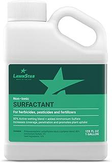 Non-Ionic Surfactant (1 Gallon - 128oz) for Herbicide, Pre-Emergent & Fertilizer - Premium Spreader Sticker Boosted with Ammonium Sulfate - Increase Coverage, Penetration & Maximize Spray Performance