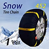 HZYICH SUV/4X4/Light Truck Fabric Snow Chain Textile tire Chains auto Snow Sock (452)