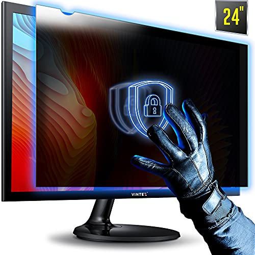 """24 Inch 16:9 Aspect Ratio Computer Privacy Screen Filter for Widescreen Computer Monitor - Anti-Glare - Anti-Scratch Protector Film for Data confidentiality - We Offer 2 Different 24"""" Filter Sizes"""