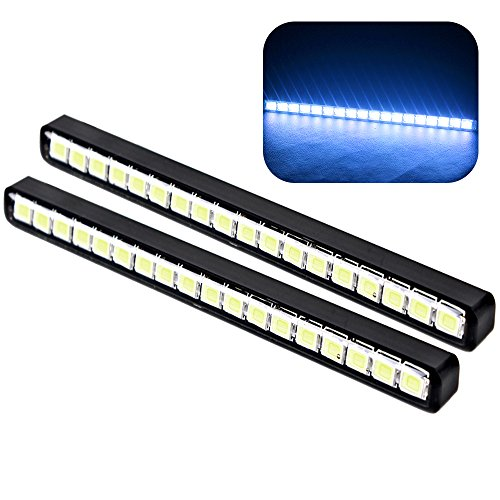 Itimo Voiture Jour lumière LED DRL universel 18 LED Voiture feux de jour de voiture Styling (ICE BLUE)