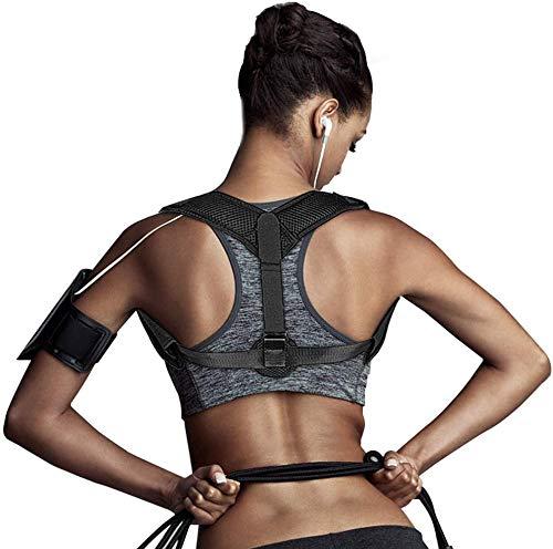 Coquimbo Haltungskorrektur, verstellbar, Korrektur, Haltungskorrektur, Rücken und Schultern mit 2 Achselpolstern für Männer und Frauen, lindert Nacken, Schmerzen, Rücken und Schultern