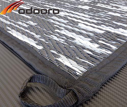 Zeltteppich WAVETEX-Platin 2,7m x 6m schwarz-grau *** 450 g/m² Outdoor Teppich Vorzelt Garten Spieldecke *** Große Auswahl und Farben
