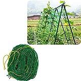 PflanzennetzStütznetzGartennetzKlettergerüstNylon-GitterNetzRanknetzfürGurkenUnterstützungfürKletterpflanzen,RebeundVeggieSpalierNetz, 2.7x5m, Maschengröße: 10x10cm, grün