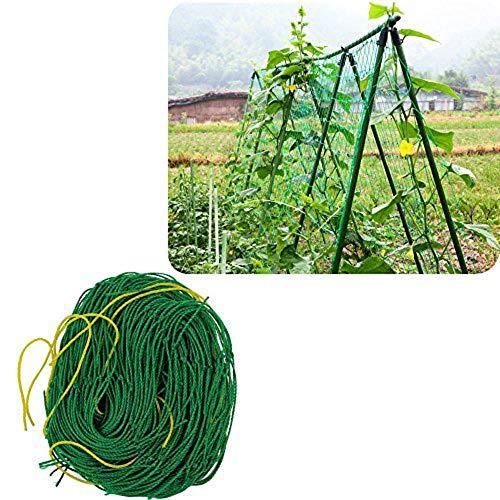 PflanzennetzStütznetzGartennetzKlettergerüstNylon-GitterNetzRanknetzfürGurkenUnterstützungfürKletterpflanzen,RebeundVeggieSpalierNetz,1.5X9m,grün