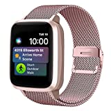 Funbiz Metal Correa Compatible con Apple Watch 38mm 40mm 42mm 44mm, Pulsera de Repuesto de Acero Inoxidable para iWatch Series SE 6 5 4 3 2 1, 38mm/40mm-Oro Rosa