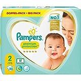 Pampers Pampers - Pannolini per bambini, taglia 2 (4-8 kg), 80 pezzi, comfort e protezione