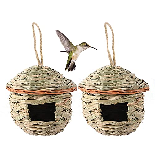 Hamiledyi Hummingbird Bird House for Outside,Hanging Bird Nest,Grass Bird...