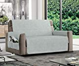 MB HOME BASIC Funda Antideslizante para sofá Relax, Hielo, 4 plazas