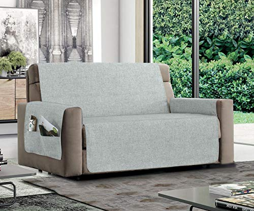 MB HOME BASIC Funda Antideslizante para sofá Relax, Hielo, 3 plazas