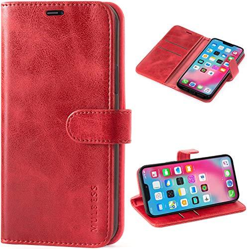 Mulbess Cover per iPhone 12 PRO, Cover iPhone 12, Custodia Pelle con Magnetica per iPhone 12 / iPhone 12 PRO (6.1) 5G [Vinatge Case], Vino Rosso