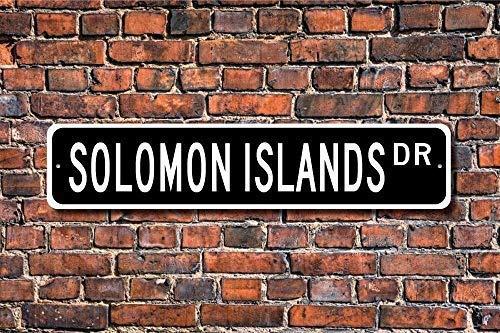 MNUT Blechschild Post Salomon Inseln Geschenk Schild Souvenir Salomon Inseln Einheimische Plakette Wanddeko Straßenschild 40x10cm