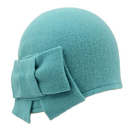 Seeberger Litika Wollmütze für Damen, Wintermütze, Grün One size