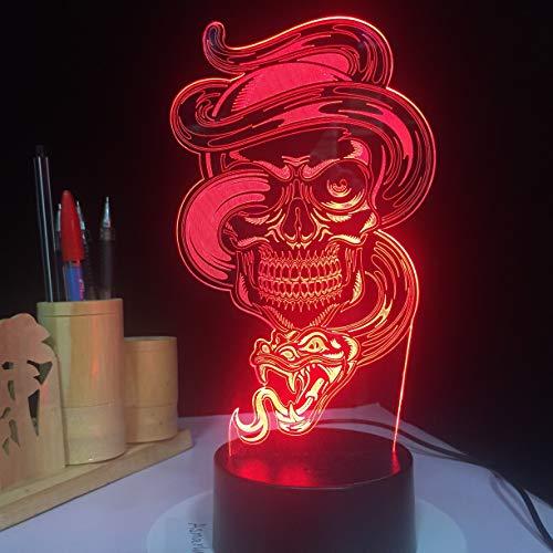 Veilleuses pour Enfants Xenon Touch Sensor Control Gothic Halloween Table Ampoules Cadeaux pour Enfants