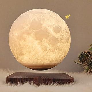 ZJING Lampe De Lune en Lévitation 3D, Lampe De Lune Flottante À LED De 5,5 Pouces, Lampe De Lune À Gradation De 3 Couleurs...