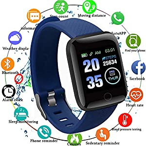 Edhua 116 Plus Pulsera Actividad, Smartwatch HD Touch Screen Fitness Tracker, Pulsera Inteligente, Sport Fitness Tracker Compatible con Android 6