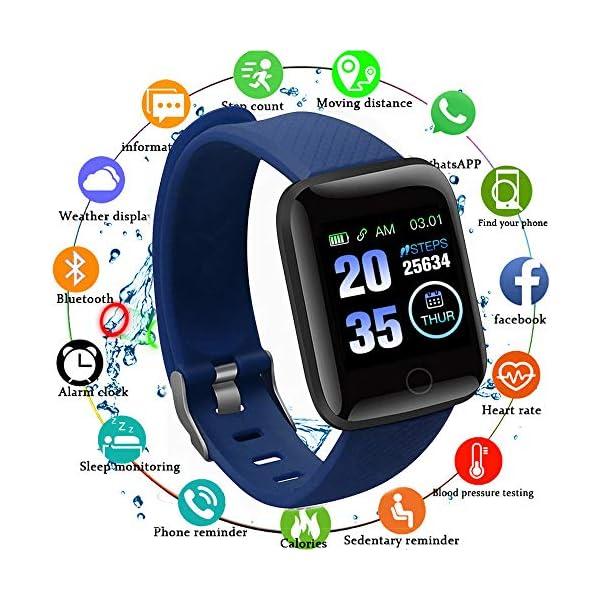 Edhua 116 Plus Pulsera Actividad, Smartwatch HD Touch Screen Fitness Tracker, Pulsera Inteligente, Sport Fitness Tracker… 2