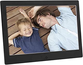 Metal Digital Photo Frame,10-Inch MP3 / MP4 Player Multi-Function Advertising Machine Electronic Picture Frame Support Mus...