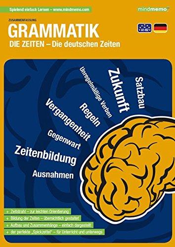 mindmemo Lernfolder - Die deutschen Zeiten - Grammatik lernen für Kinder und Erwachsene Lernhilfe kompakt Zusammenfassung PremiumEdition foliert DIN A4 6 Seiten plus Abhefter