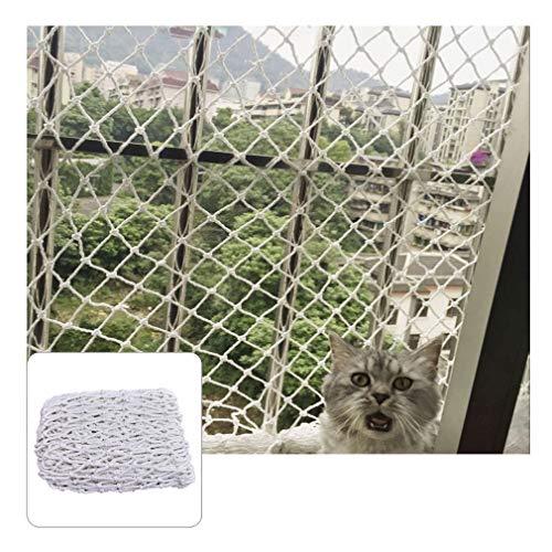 DaMi Balkonschutz Treppengeländer Katzen Balkonnetz Weiß Schutznetz Geländer Kindersicherung Treppe Sicherheitsnetz Netz Absturzsicherung (Color : Mesh 3cm, Size : 2x4m(6.6x13.2ft))