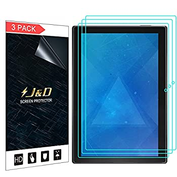 J&D Compatible for Lenovo Tab 4 10 inch Android Tablet Screen Protector  3-Pack  Not Full Coverage HD Clear Protective Film Shield Screen Protector for Lenovo Tab 4 10 inch Android Tablet